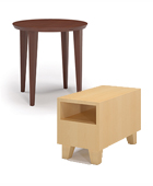 Occasional round table, Cube coffee table