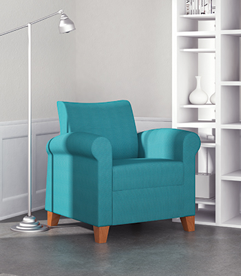 Composium Round soft seating chair in a modern setting.