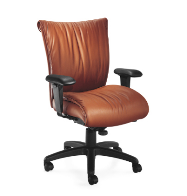 Glove Executive Chair with Fixed Arms