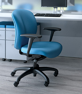 Knack task chair, SitOnIt Seating Pop Electric Blue