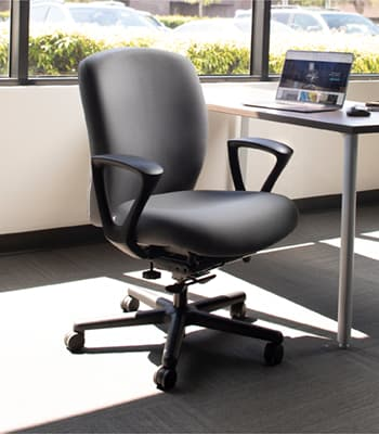 Heavy Duty Task Chair with Adjustable Arms