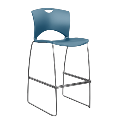 OnCall Plastic Café Stool with Arms